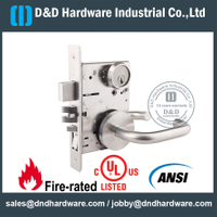 SUS304 ANSI Grade 1 Mortise Lock with UL Listed for Entrance Double Door-DDAL20 F20