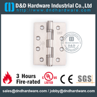 SS304 Two Ball Bearing Hinge for Wooden Door with UL Certificate-DDSS001-FR-4x3x3.0mm